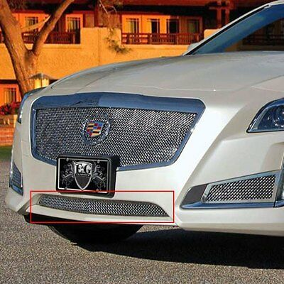 For Cadillac CTS 14-19 E&G Classics 1-Pc Chrome Fine Mesh Bumper Grille