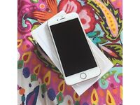 iPhone 6, 64GB, white and gold