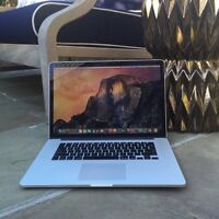 MacBook Pro retina • Maxed out specs • i7 quad • 16GB • 512GB