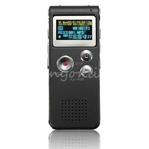 Rechargeable 4GB 650Hr Digital Audio Voice Recorder Dictaphone MP3 Player Black