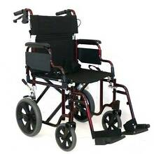 Wheelchair - BRAND NEW Updated Model Delux Folding Transporter Maryland Newcastle Area Preview