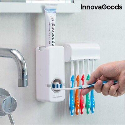 dispensador crema de dientes con soporte para cepillos