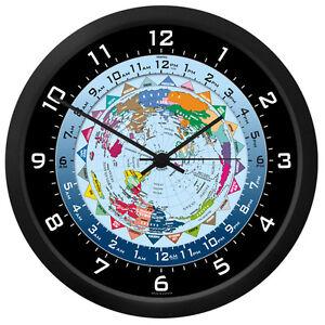 world time wall clock ebay