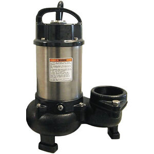 Tsurumi 12pn 133 Gpm 1 Hp 3 Submersible Stainless Steel