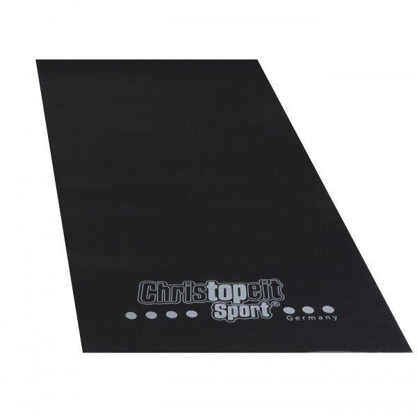 Christopeit Bodenschutzmatte große Unterlegmatte für Fitnessgerät 200 x 100 cm