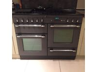 Leisure range cooker double oven grill h90 x W110 x D60 cm vgc