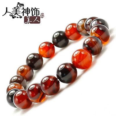 "Stretchy 19 10mm Colorful Agate Yoga Meditation Prayer Beads Mala Bracelet-6.5"""