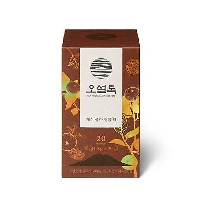 OSULLOC JEJU Premium Tangerine Tea Bags Korean Sweet Tangerine TEA (20EA)