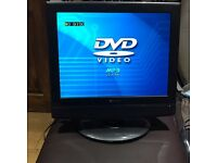 "15 ""lcd tv built in dvd"