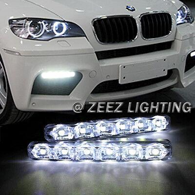 Super Bright 6 LED Daytime Running Light DRL Daylight Kit Fog Driving Lights C02