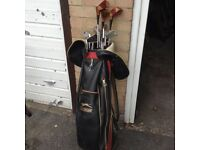 Slazenger Golf Bag With Clubs