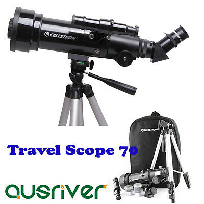 Celestron Terrestrial Astronomical Compact Telescope Travel Scope 70x400 21035