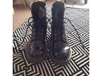 REAL patent leather doc martens
