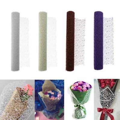 Paper Mesh Rolls (1 Roll Mesh Crepe Wrapping Paper Florist Supplies for Bouquet Flower)