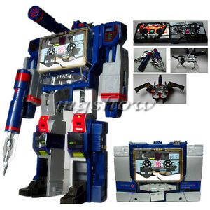 Transformers G1 Soundwave Decepticon 21cm with Machine Tapes Action Figure Toys