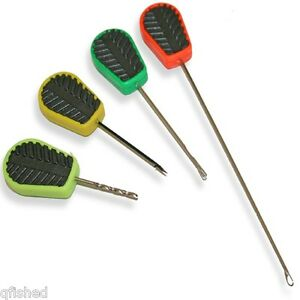4 PC Carp Fishing Stainless baiting needle Hook Drill Boilie Bait Set