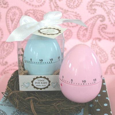 Pink or Blue Egg Timer Baby Shower Favor Gift (Personalized Option) 25, 50, 72
