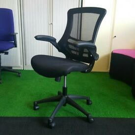 Deluxe Mesh Back Operators Chair With Black Fabric Base