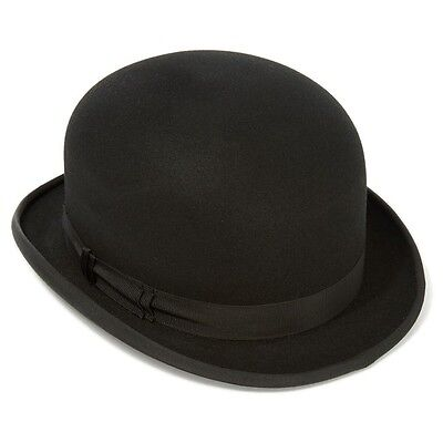 Express Hats Quality Stiff Wool Felt Bowler Hat (Satin Lined)