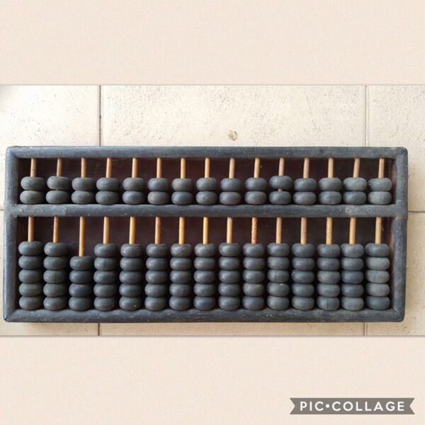 Vintage Ancient Wooden Black Abacus (Large)