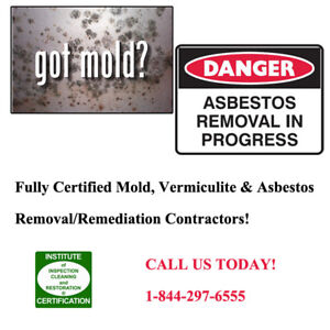 Quick honest quotes for certified Mold, Asbestos and Vermiculite