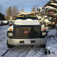 2000 GMC 6500 Flatbed with Stinger (2 car carrier)