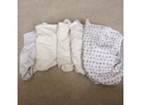 5 Fitted crib sheets vgc!!