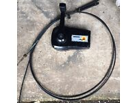 Universal outboard throttle unit and cables