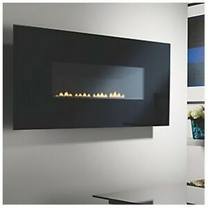 Focal Point Midnight Black Rotary Control Gas Wall-Hung Flueless Fire