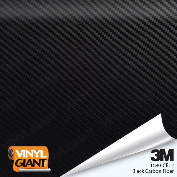 Car Parts - 3M 1080 CF12 BLACK CARBON FIBER Vinyl Vehicle Car Trim Wrap Film Sheet Roll