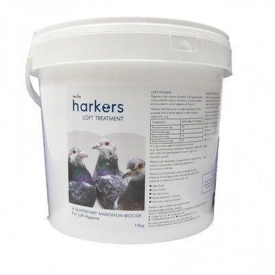 Harkers Loft Treatment – Dry Disinfectant for pigeons, poultry etc 10kg