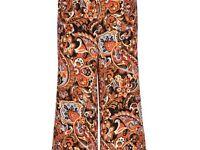 Vintage print hippy trousers
