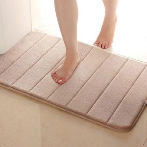 Memory Foam Bath Mats Bathroom Horizontal Stripes Rug Non-slip Bath Mats 40*60cm