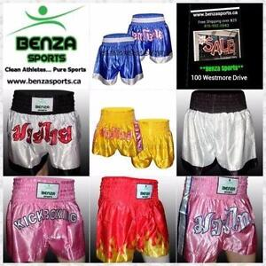 MUAY THAI SHORTS $19.99 KICK BOXING SHORTS ONLY $39.99 MMA SHORTS ONLY $29.99 KICK BOXING TROUSERS ONLY $24.99