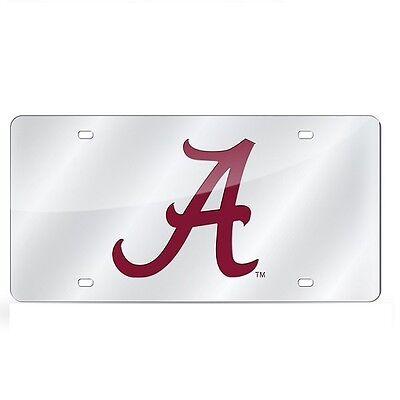 - Alabama Crimson Tide Mirrored Laser Cut License Plate Laser Tag