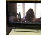 "37"" Panasonic plasma TV and home theatre DVDs sound system"