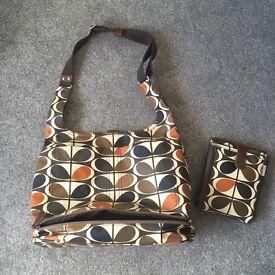 Orla Kiely change bag & mat/ large day bag