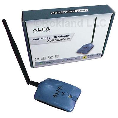 Alfa AWUS036NHV 802.11n Long Range Realtek WIRELESS-N USB Wi-Fi adapter