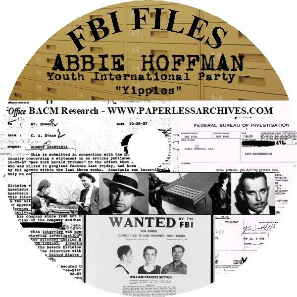 Abbie Hoffman and the Yippies FBI Files