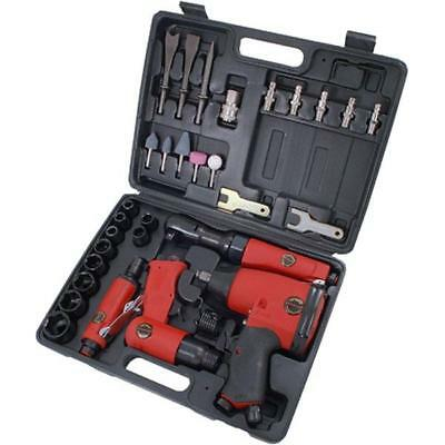 "1/2"" Dr Air Tool Kit in Case - ratchet impact wrench die grinder hammer sockets"
