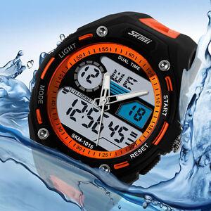 Men's Waterproof Alarm Date Sport Analog Digital LED Backlight  Wrist Watch