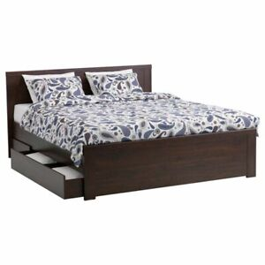 Ikea Brusali Queen Size Bed Drawers Not Included
