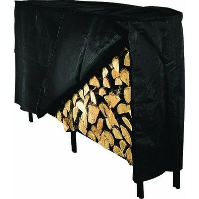 Extra Large Wood Rack - Log Rack HD Vinyl Cover Firewood Wood Holder XL Extra Large Fits Most 8' Racks