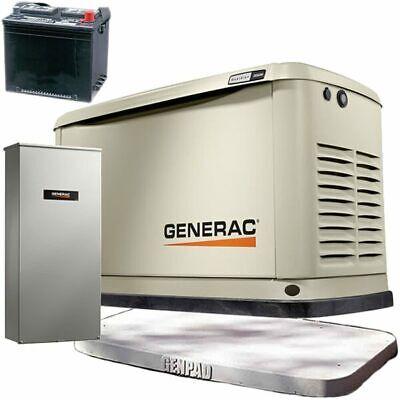 Generac Guardianreg 10kw Aluminum Standby Generator System 100a Ats W 16-...