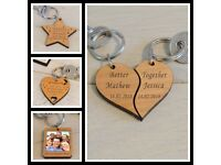 Personalised Wooden Keyring's