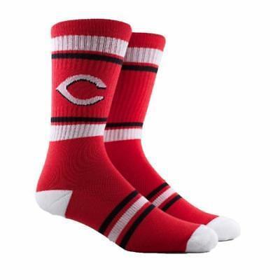 NEW Cincinnati Reds MLB Parkway PKWY Red Stripe Crew Socks Men's Women's Youth