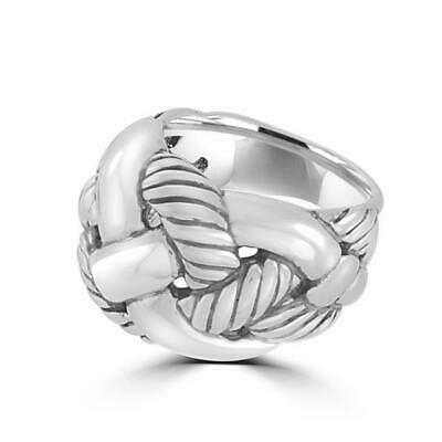 DAVID YURMAN WOVEN CABLE STERLING SILVER RING Size 7