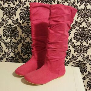 Brand New, Never Worn Faux Suede Boots Size 7.5 Regina Regina Area image 1