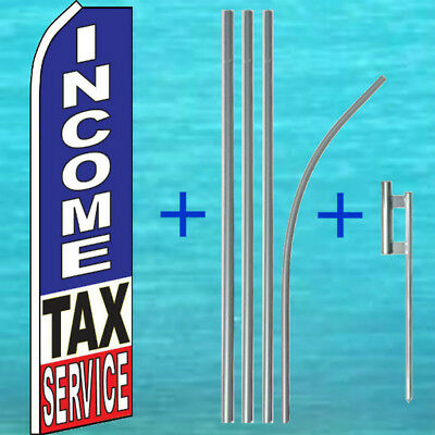 Income Tax Service Flutter Flag Pole Mount Kit Tall Feather Swooper Banner