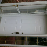 quality solid pre hung  door with storm and sidelight .complete